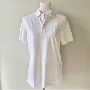 Nautica Men's White Polo Slim Fit Shirt Medium